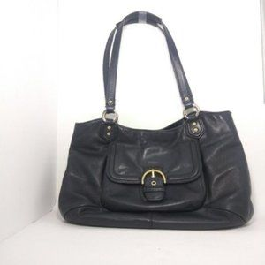 Coach Campbell Black Leather Belle Carryall Bag